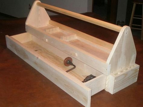 carpenters beautiful wooden hand made tool box - Google Search