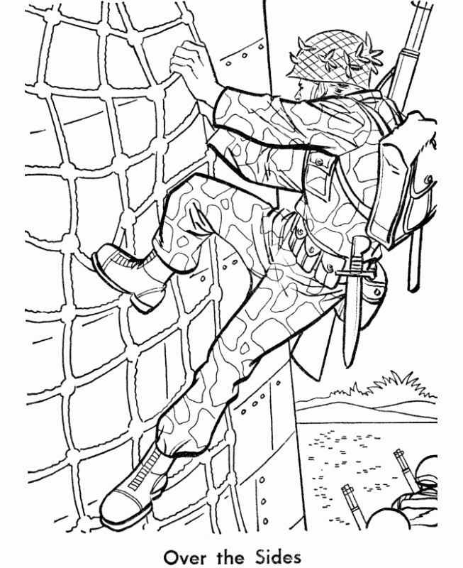 army coloring pages to print - Patriotic Military Coloring Pages