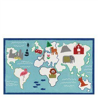 Around The World Kids Rug