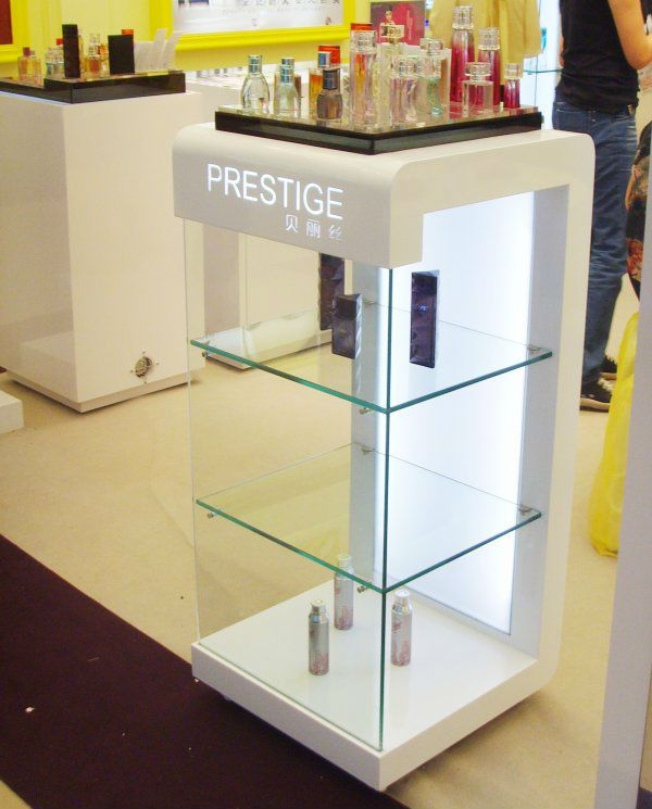 design MDF glass cosmetic display cabinet for retail $150~$600