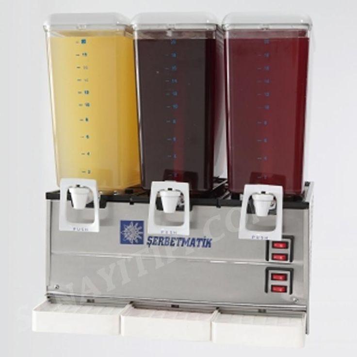 Üçlü Şerbetlik Limonata Makinası » şerbetlik ayranlık - Sanayi tipi