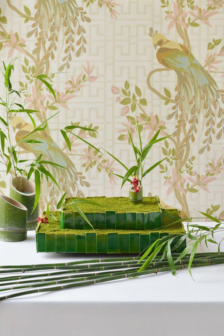 #NOVARESE #weddingcake #green #bamboo #竹 #笹 #red