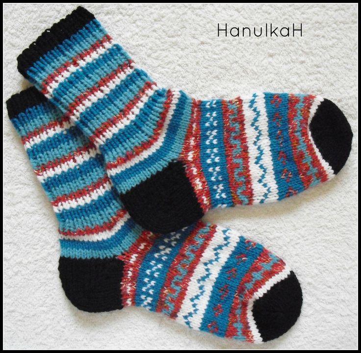 Crazy ponožky Bezešvé ponožky, pletené z nové, kvalitní příze zn. LADA a ALPINA. Jelikož je při pletení protahováno více přízí najednou, jsou ponožky vlastně dvojité, takže jsou velmi, velmi teplé!!! Velikost : 39-40 Na vaše přání upletu i jinou velikost. :)