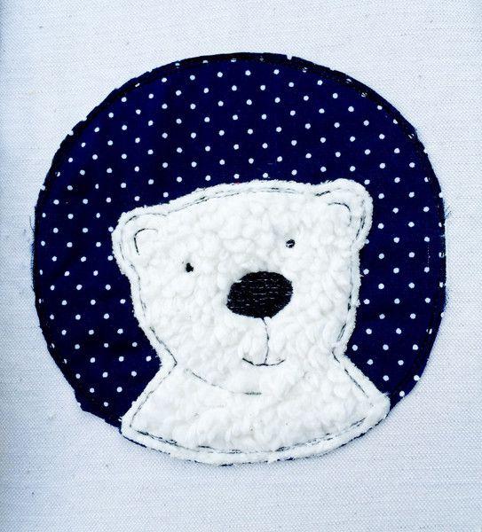 Stickmuster - Eisbär Button Doodle Stickdatei - ein Designerstück von feinliebshop bei DaWanda