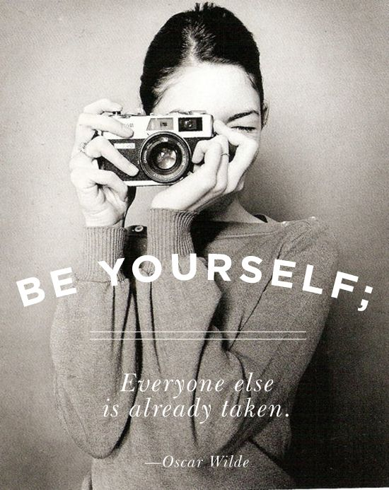 oscar wilde inspirational quote: be yourself; everyone else is already taken