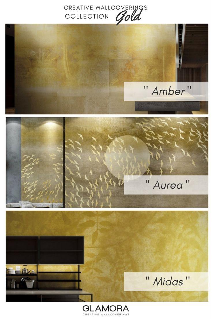 Gold | Natural Wallcovering & Carta da Parati Collection | Glamora