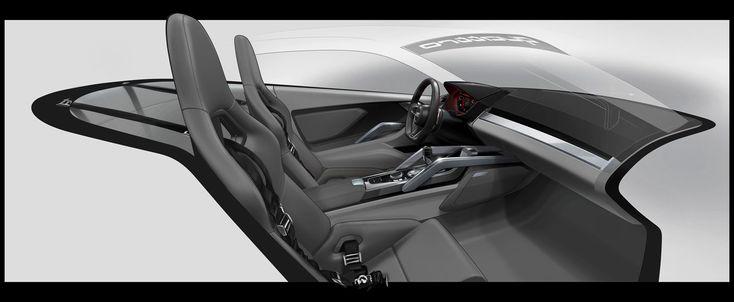 Audi Nanuk quattro Concept - Interior Design Sketch