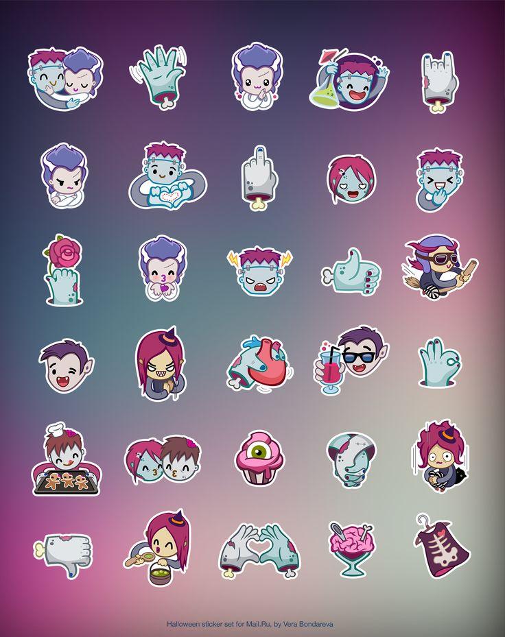 Halloween Stickers for ICQ / Vera Bondareva for Mail.Ru