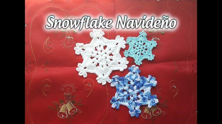 Copo de nieve a crochet - How to Crochet a Snowflake