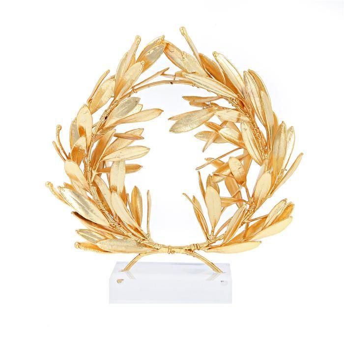Olive Wreath Ornament Gold platted 24k Elitecrafters.com