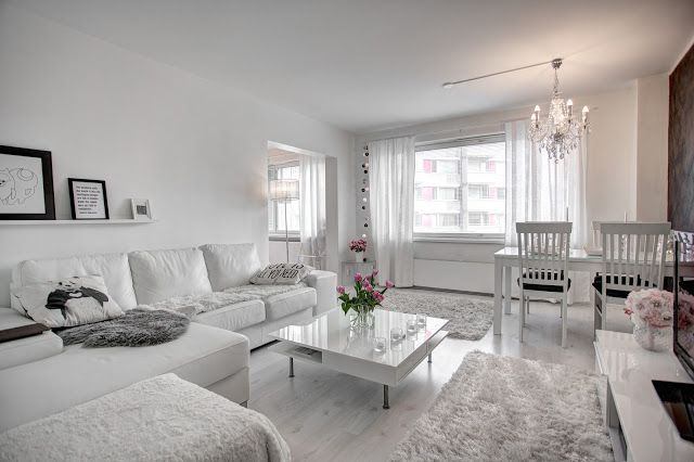 White interior - valkoinen sisustus