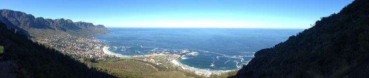 Campsbay from Lionshead - Framed by mountains