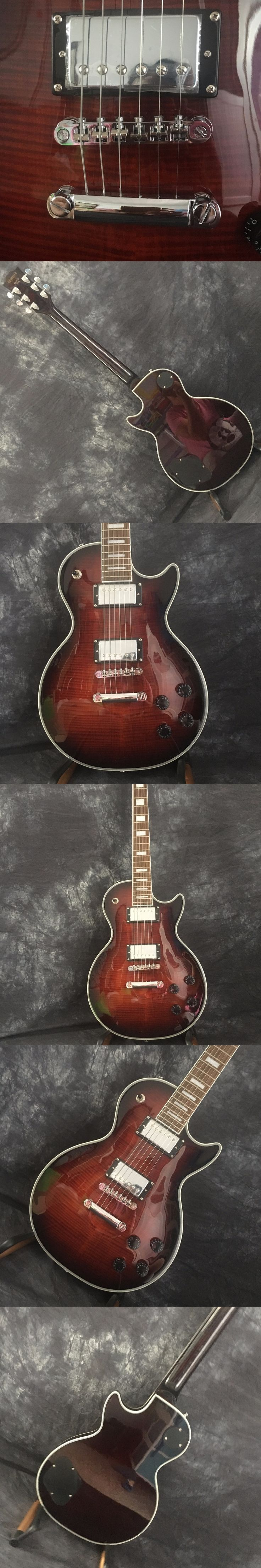 Human Best selling Free shipping fiamed maple top LP electric guitar picture real shot