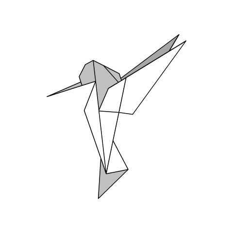 origami diagram  humming bird