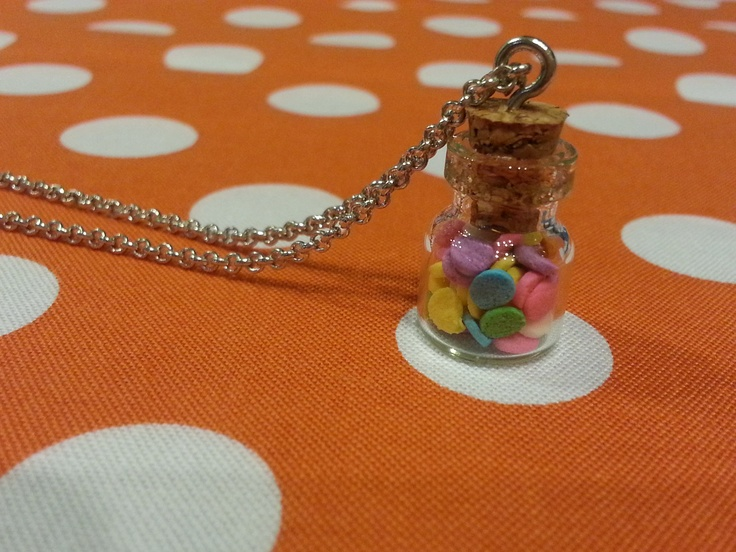 Cute sprinkles necklace.