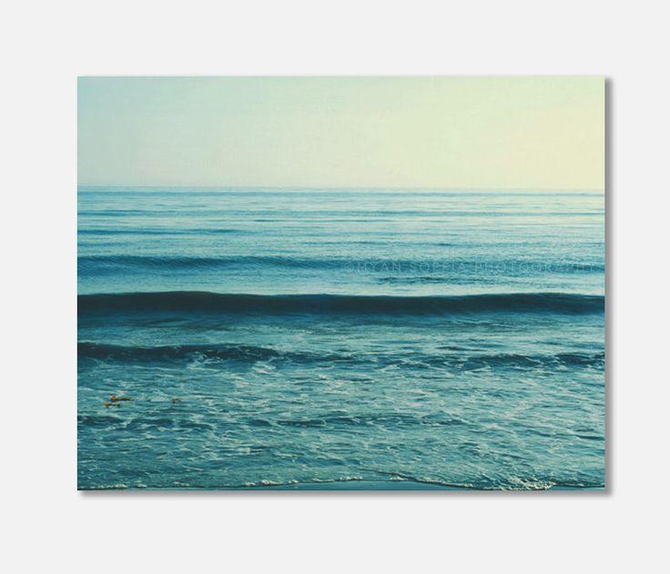 beach canvas art, blue ocean wave photo beach photography seaside coastal decor yoga studio art calm peaceful waves ultramarine, canvas wrap by MyanSoffia on Etsy https://www.etsy.com/listing/183284507/beach-canvas-art-blue-ocean-wave-photo