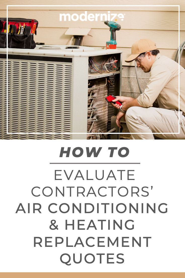 How To Evaluate Contractors Hvac Replacement Quotes Hvac