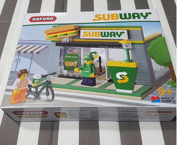 Oxford Korea Subway Limited Version Lego Set 20sets to Saudi Arabia Free EMS