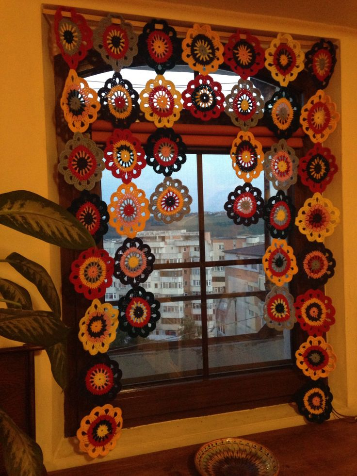 A personal favorite from my Etsy shop https://www.etsy.com/listing/452631346/flower-valance-crochet-valance-window