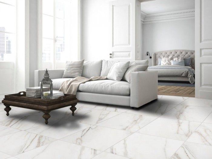 Esprit White Floor Tile