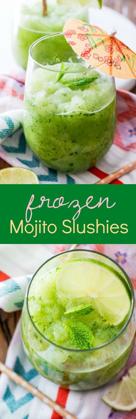 How to make super simple, refreshing Frozen Mojitos! frozen mojitos are actually quite simple to recreate. All you need is a hot day and a blender. Hot day optional. Click on the photo to get the recipe.