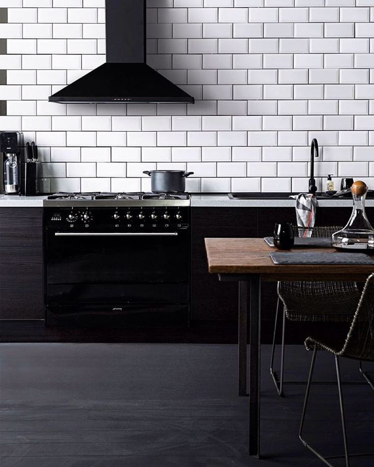 Kitchen With Black Tiles: 40 Best Images About Black Matt Design Trends On Pinterest