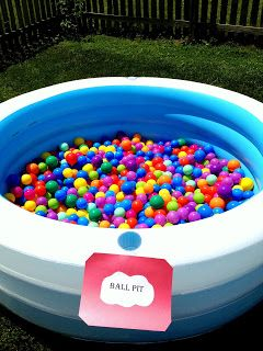 Circus Party - Love the ball pit idea for kids!