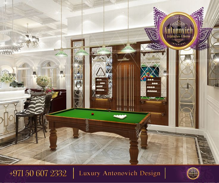 Billiard Table With Straight And Harmonious Lines Which Relaxes Any Atmosphere For The Elegance Lovers Antonovich Designae Contact Us 971 50