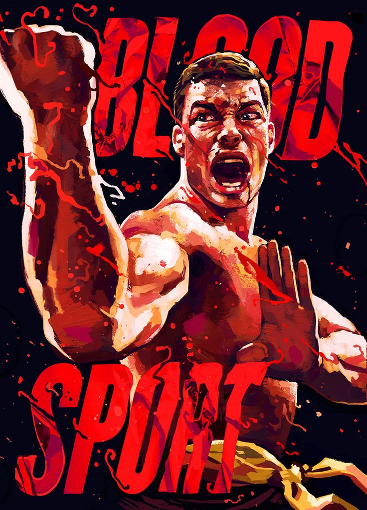 artwork of Jean-Claude Van Damme from Bloodsport : if you love #MMA, you'll love the #UFC & #MixedMartialArts inspired fashion at CageCult: http://cagecult.com/mma