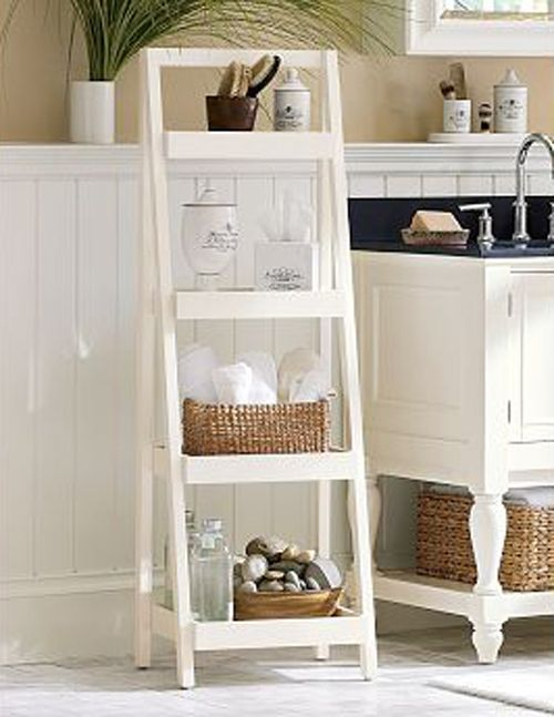 Bath Ladder Storage Design : Make Your Bathroom More Cute And Cool Part 91