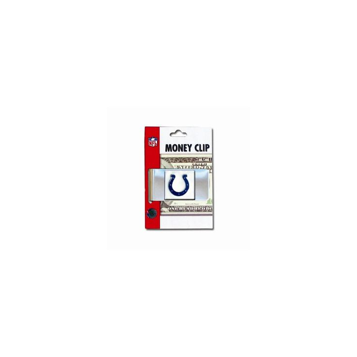 NFL Colts Money Clip - Engravable Personalized Gift Item