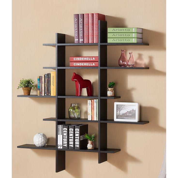 Latitude Run 5 Shelf Asymetric Wall Shelf. Display ...