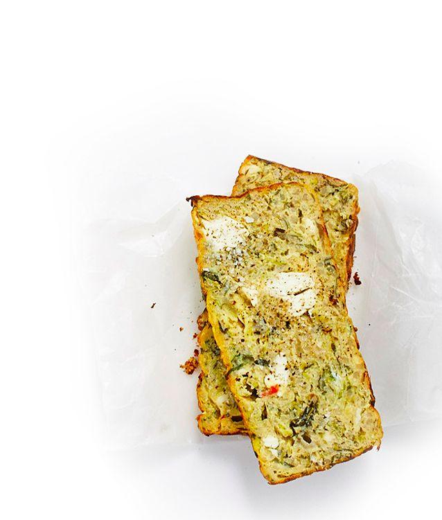 Zucchini, Fetta & Quinoa Frittata Loaf   Lush Loves