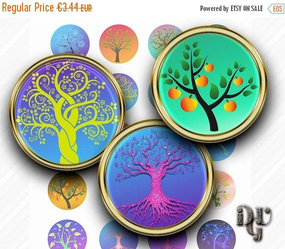 35% OFF SALE TREES Digital Collage Sheet by DreamUpGraphic on Etsy