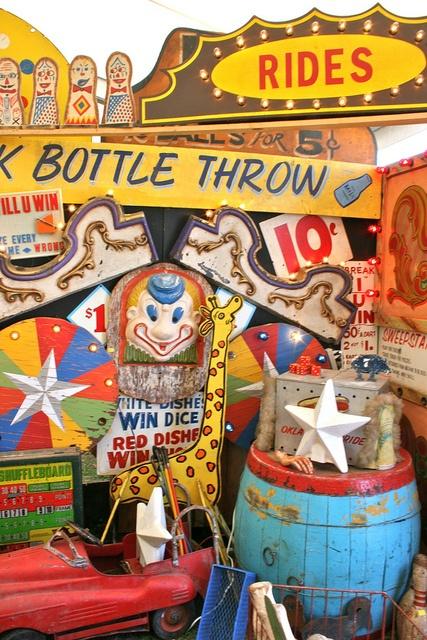 Vintage Carnival Games; display at Marburger Farms, TX