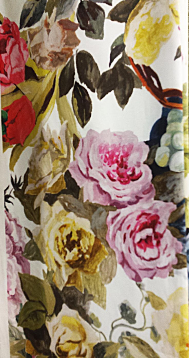 Pretty in Pink floral curtain by John Lewis
