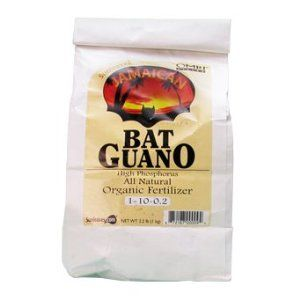 Sunleaves Jamaican Bat Guano 2.2lb. Bag - OMRI listed Organic by Sunleaves. $11.15. NPK (1-10-0.2). Pure high-phosphorus. Excellent trace element foundation. Eco-friendly harvesting. Sea Island Jamaican Bat Guano Pure High- Phosphorus (1- 10- 0)Nothing is better for blooming flowers or ripening fruits than pure, high-phosphorus Sunleaves Jamaican Bat Guano (1-10-0.2). Listed by the Organic Materials Review Institute (OMRI), Jamaican Bat Guano is most effectively use...