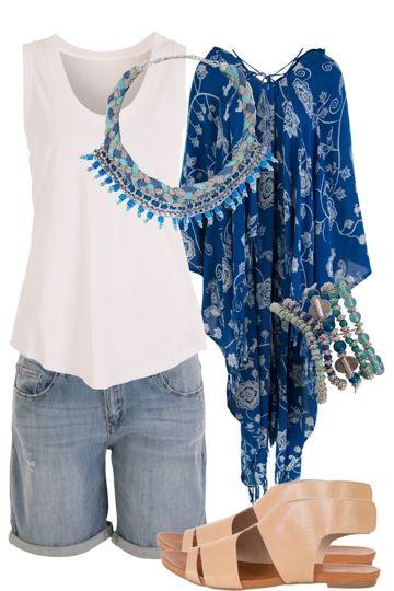 Summer Rain Outfit includes JAG, Adorne, and boho bird - Birdsnest Fashion Clothing