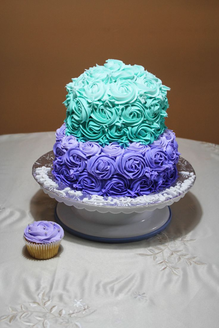 blue and purple cupcake wedding cakes 1000 images about rosette cakes on ombre 11953