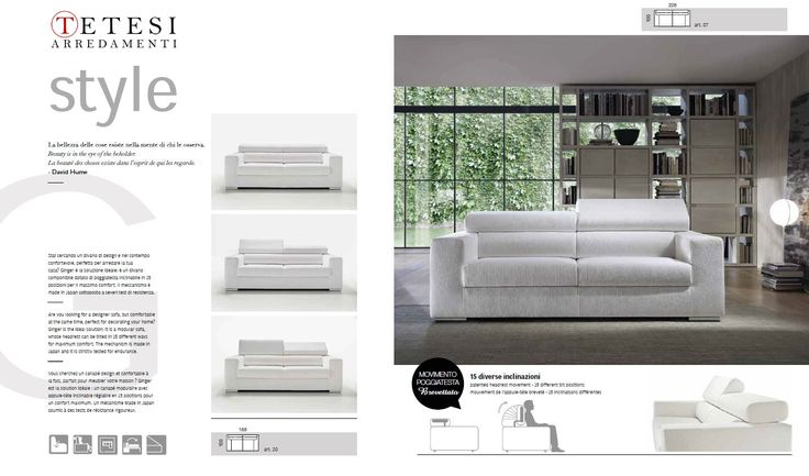 Piedini in tubo d'acciao cromato lucido. Un tocco #glamour per un divano ideale ad arredare il centro stanza, che punta tutto su comfort ed estetica.