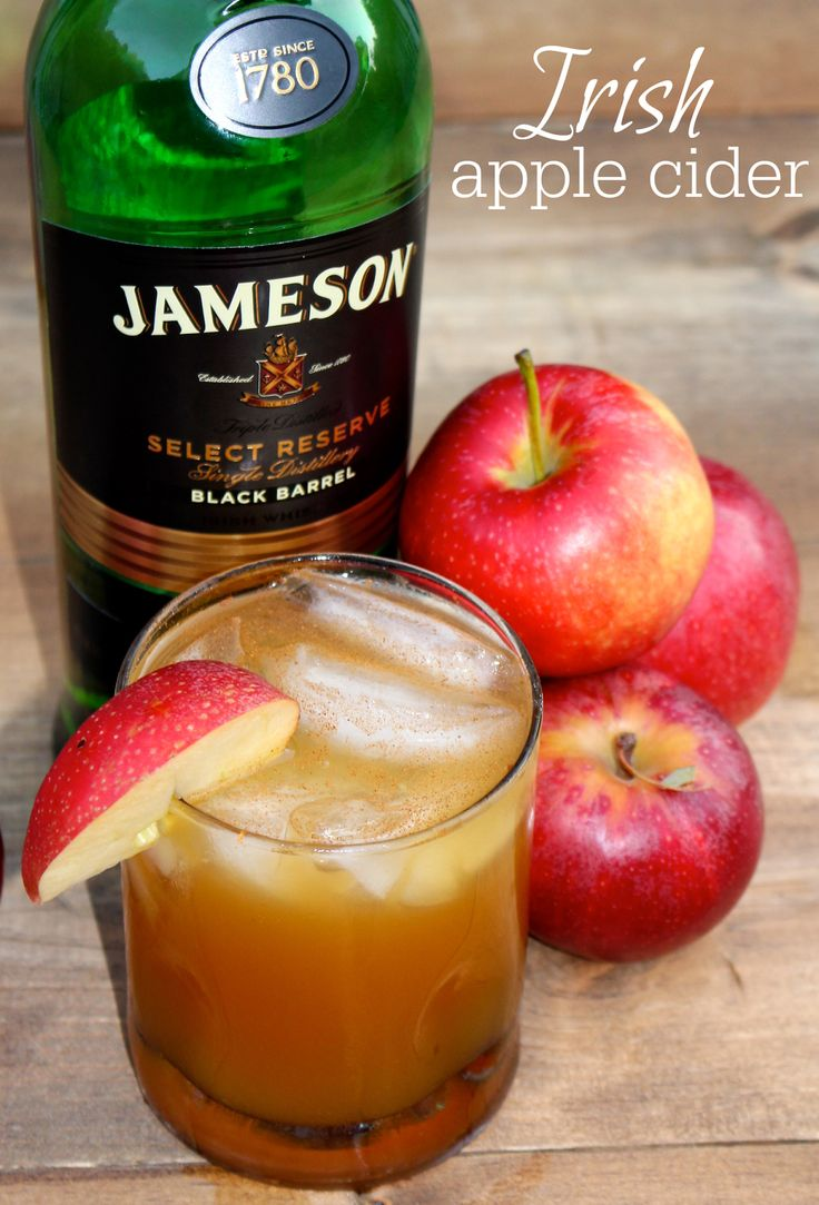 Irish Apple Cider - Jameson plus apple cider makes the perfect fall cocktail