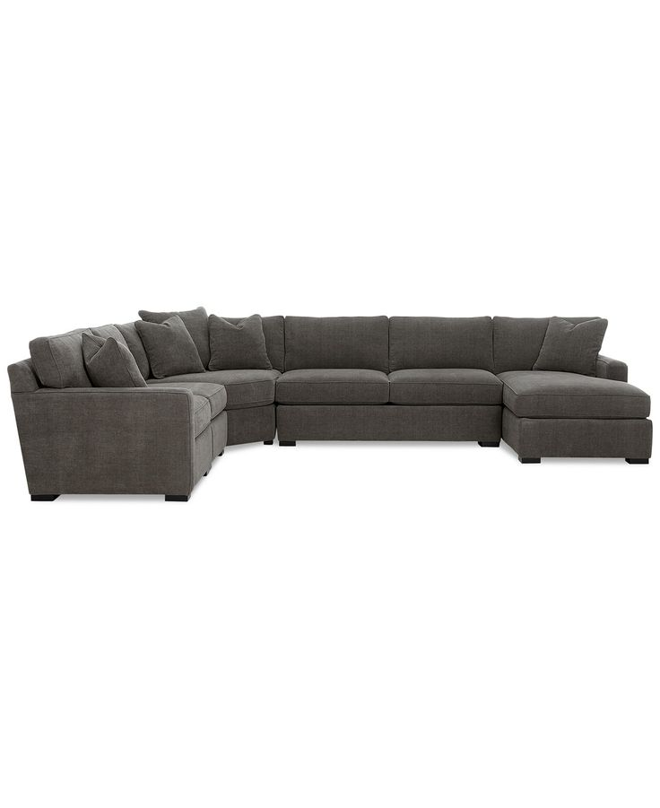 Radley 5 piece fabric chaise sectional sofa for 5 piece sectional sofa with chaise