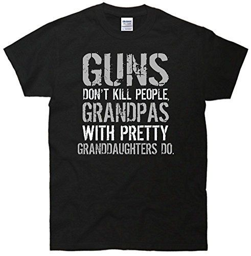 TeeShirtPalace Guns Don't Kill People Grandpas With Granddaughters Do T-Shirt