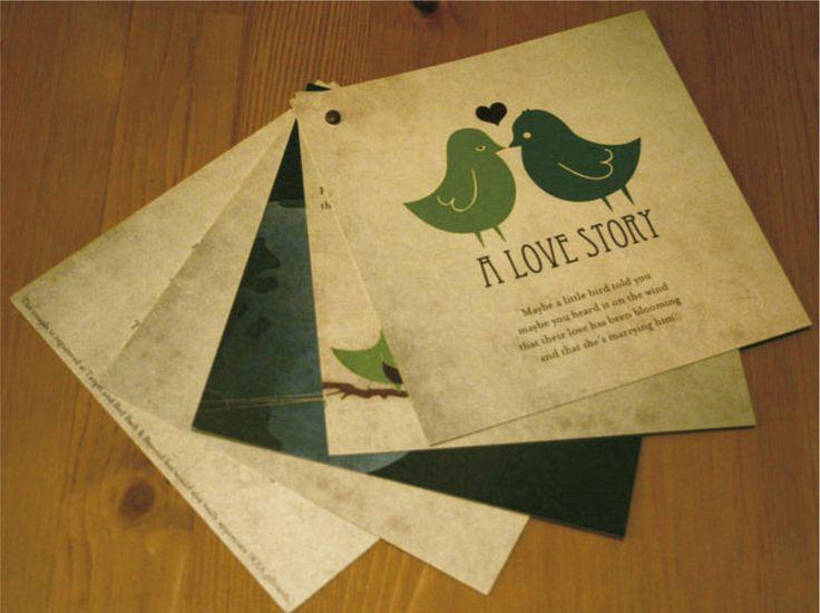 HISTORIA DE AMOR  (Invitación personalizable) Tipo catálogo - abanico  Incluye: 1 Abanico por 5 hojas con medida 12x12 cm