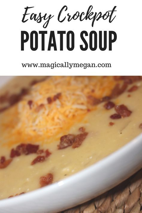 When in cold and life gets busy, crock pot soups are the way to go. This easy crock pot potato soup recipe will become one of your favorites. #crockpotmeal#comfortfood