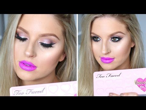 Too Faced Chocolate Bon Bons Palette - Chit Chat GRWM ♡ Purple Lips & Smoky Pink Eyes - YouTube - Too Faced Cosmetics - #toofaced