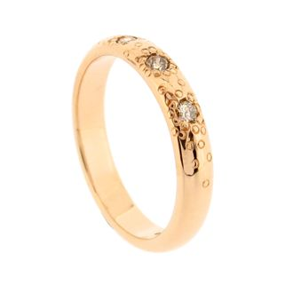 Rose gold and diamond stardust wedding ring