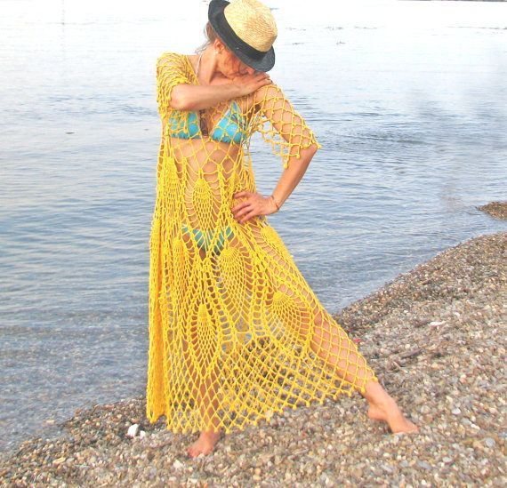 Handcrochet long dress tunic by kovale on Etsy, $168.00 ...