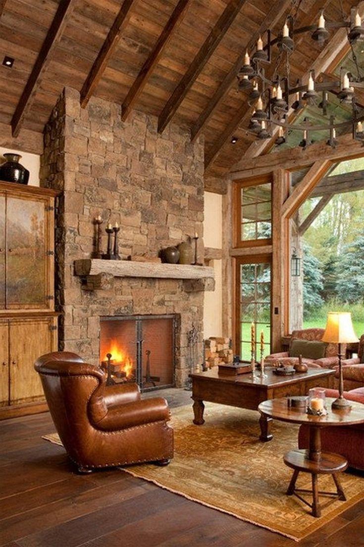 110+ Extraordinary Rustic Living Room Design Ideas ...