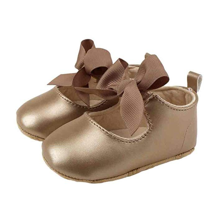 3f16255e6da3e Amazon.com | Elaco Infant Baby Girls Moccasins Anti-Slip Soft Sole ...